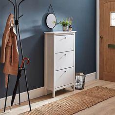 Hallway Shoe Storage, Locker Storage, White Hallway, Ikea Shoe, Skirting Boards, Hallway Ideas, Particle Board, Line Design, Contemporary