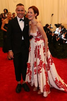 Thom Browne and Taylor Tomasi Hill at the Met Gala [Photo by Evan Falk]