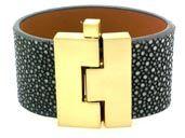 Leighelena - wide jigsaw cuff. Stingray