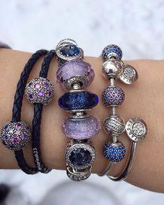 Focussing on lovely Pandora beads and bracelets as the windchill drops to -22  #uniqueasyouare #pandoraaddict #theofficialpandora #thelookofyou #pandorastyle #purple #violet #moonlight #blue #crystals #muranoglass #glassbeads #silver #pandorabracelets #cosmic #stars #essence #peace #happiness #joy #pandorabeads #myarmparty