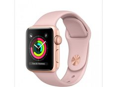 Apple Watch Series 3 Smartwatch (GPS Only Gold Aluminum Case Pink Sand Sport Band) (Certified Refurbished) Apple Watch Silver, Buy Apple Watch, Apple Watch Bands, Gold Watch, Apple Band, Smart Watch Apple, Ios Apple, Apple Tv, Apple Watch Series 3