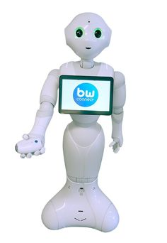 Softbank #robotics' life assistant, pepper, comes equipped with bewellconnect® solutions