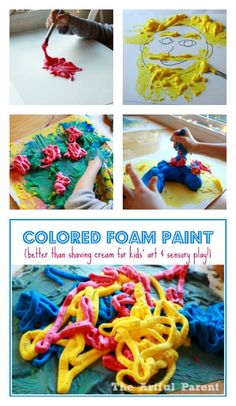 Colored Foam Paint for Kids
