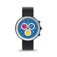 A modern men's chronograph watch inspired by the vibrant colour of motorsport racing decals. Multicoloured chronograph subdials and interchangeable striped canvas and black leather straps. Casual Watches, Watches For Men, Black Watches, Leather Watches, Men's Watches, Morse Code Bracelet, Latest Watches, Etsy Crafts, Nassau