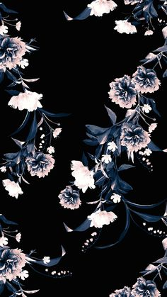 Wallpaper for iPhone Wallpaper Keren, Black Wallpaper, Flower Wallpaper, Screen Wallpaper, Cool Wallpaper, Floral Wallpaper Phone, Classic Wallpaper, Fashion Wallpaper, Trendy Wallpaper