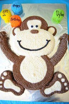 Amazing monkey pull-apart cake for Dylan's 1st Birthday!