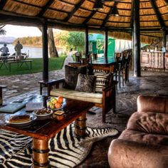A visit to either the lodge or campsite situated in the Lower Zambezi area on the might Zambezi River  Victoria Falls, Campsite, Bed And Breakfast, Lodges, Birth, Hotels, Patio, River, Places