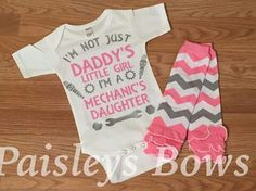 Adorb Daddys Little Princess, Daddys Little Girls, Baby Mechanic, Unusual Baby Names, Cute Baby Clothes, Babies Clothes, Everything Baby, Trendy Baby, Boutique