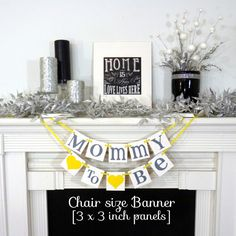 Baby Shower Banner/ Mommy to Be Chair Sign/ Mom by BannerCheerJR
