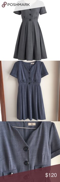 Orla Kiely Career Girl Dress ModCloth Size 6 US, invisible back zip; very well made, fully lined; I purchased this from another posher; I wore it once - I would keep it, but the color is not right for me; 50% of my sales goes to New Hope, a girls' school in the Dominican Republic. Orla Kiely Dresses Midi