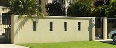 Image result for boundary wall designs Compound Wall, Boundary Walls, Wall Design, Garage Doors, Outdoor Decor, Google Search, Home Decor, Image, Ideas