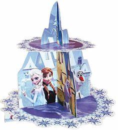 Die Eiskönigin Frozen Disney Cupcake Stand / Muffinständer Kinderbeburtstag