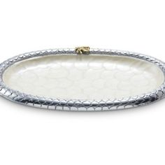 Julia Knight Queen Bee Oval Tray, 11.5-Inch, Snow