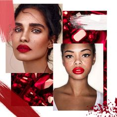 Make up moodboard - Red lipstick only trend Red Lipsticks, Mood Boards, Make Up, Maquillaje, Maquiagem, Makeup, Bronzer Makeup