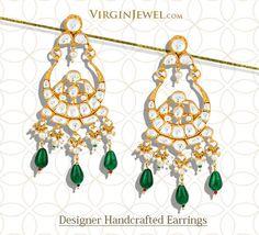 Fabulous Polki earrings that swing perfectly to your style! #goldplatedearrings #polkiearrings #handmadejewelry