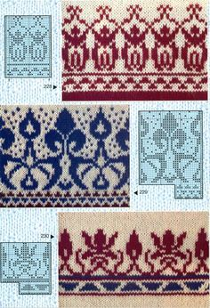 Жаккардовые узоры спицами---design charts for machine knitting or duplicate stitch