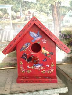 Handcrafted Decorative Birdhouse  Rust W/ by Bloomsbotanicals, $75.00