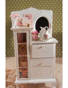 Dollhouse Miniature Shabby Chic Ladies Treasures Scene- 1/12th scale