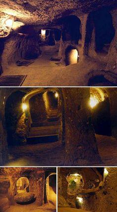 Derinkuyu, the great underground city of Cappadocia, Turkey