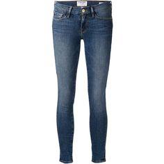 Frame Denim 'Le Skinny De Jeanne Kingslane' jeans ($340) ❤ liked on Polyvore