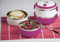 3 Piece Stainless Steel Lunchbox