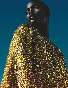 divalocity:  Golden Goddess:Jeneil Williams by Txema Yeste forNuméro°150February 2014