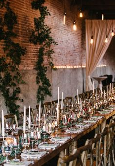 Cozy candlelit reception