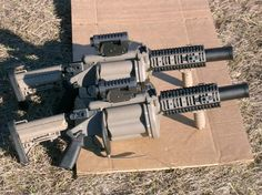 Milkor MGL x 6 grenade launcher. cuz i got… Military Weapons, Weapons Guns, Guns And Ammo, Big Guns, Cool Guns, Weapon Of Mass Destruction, Fire Powers, Self Defense, Tactical Gear