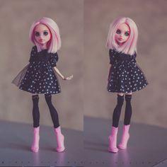 Custom Monster High Dolls, Monster High Repaint, Custom Dolls, Doll Repaint, Pretty Dolls, Ooak Dolls, Ball Jointed Dolls, Crochet Clothes, Barbie
