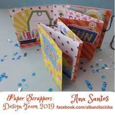 #DesignTeamPaperScrappers  #DesafiosPaperScrappers #DesafioVeraoJunho2019 #PaperScrappers  #Scrapbooking #Album #AlbunsdaLucinha Scrapbooking Album, Paper Crafts, Design, Blog, Challenges, Paper Craft Work, Paper Art And Craft, Paper Craft
