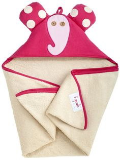 Pictures of elephant hooded towel