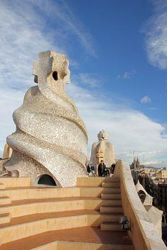 Casa Mila roof (Barcelona) -- by Lizzie927