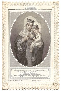 Blessed Mother Virgin Mary & Baby Jesus in by 12StarsVintage