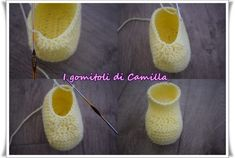 Very simple crochet baby shoes: the tutorials of … – Shoes Office Baby Boy Shoes, Baby Booties, Easy Crochet, Knit Crochet, Crochet Baby Shoes, Drops Design, Straw Bag, Slippers, Knitting