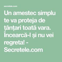 Un amestec simplu te va proteja de țânțari toată vara. Încearcă-l și nu vei regreta! - Secretele.com Alter, Good To Know, Natural Remedies, Health Fitness, Cleaning, Shake, Top, Crafts, Animals