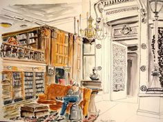 Morrison Library, UC Berkeley Cristina ~ Urban Sketchers