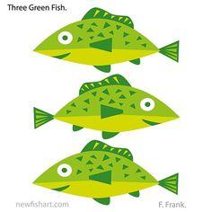 Fish art by FFrank. Ocean Aquarium, Fish Artwork, Fish Fish, Frank Ocean, Happy Art, Colorful Fish, Green, Artist, Painting