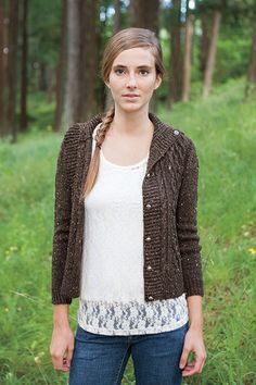 Freeport Cardigan (pattern link to Knit Picks) | This would be perfect if lengthened and the hood/cowl removed.