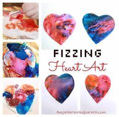 Fizzing Heart Art Eruptions – The Pinterested Parent