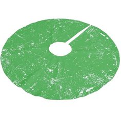 White and Spearmint Green Distressed Grunge Paint Splatter Brushed Polyester Tree Skirt