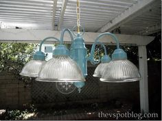 """how to create a """"plug-in"""" light fixture from a hard-wired light fixture. easy!"""
