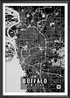 Buffalo New York Map with Coordinates