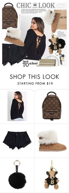 """CHIC LOOK CLOSET: Back to school"" by vn1ta ❤ liked on Polyvore featuring Anja, Louis Vuitton, UGG Australia, Armitage Avenue and Burberry"
