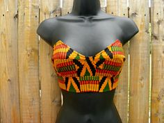 African tribal print bustier by Bellevisage clothing. $30.00, via Etsy.