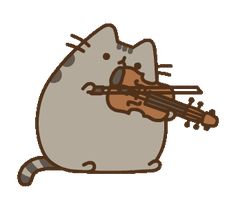 =(^x^)= violin #violinfunny Pusheen Stickers, Violin Music, Mickey And Friends, Line Sticker, Orchestra, Custom Stickers, Musical Instruments, 3d Printing, Musicals