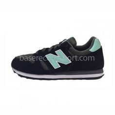 new balance mujer negras y verde agua