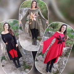Asimetric women dress Lalitha/long maxi dress/mini by dklea Red Tunic, Boho Dress, Women's Fashion, Trending Outfits, Mini, Black, Etsy, Dresses, Vestidos