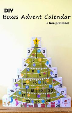 DIY Boxes Advent Calendar with Free Printable