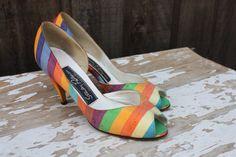 Vintage Stanley Philipson Rainbow Multicolored by pursuingandie, $41.99