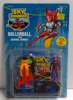 Vintage 1987 Sky Commanders Rollerball w// General Summit Mint on Card MIP Sealed